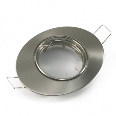 Einbaustrahler Einbaurahmen Oval Eisengebürstet schwenkbar