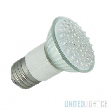80 LED Strahler JDR E27 Weiß 230V