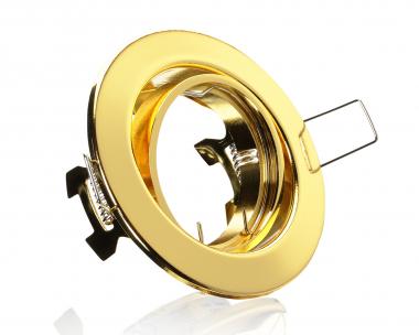 Einbaustrahler Einbaurahmen Messing schwenkbar ideal für LED