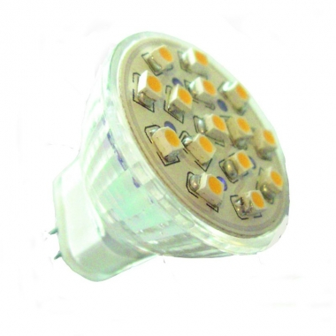 15 SMD Strahler MR11 LED kaltweiß 12V