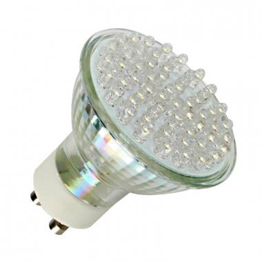 60 LED High Lumen Strahler GU10 Kaltweiß 230V