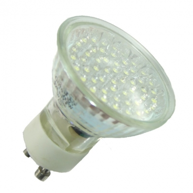 52 LED Strahler GU10 Kaltweiß mit Schutzglas