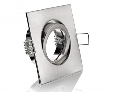 Einbaustrahler Eisengebürstet 4-eckig Bajonettverschluss