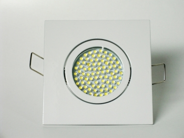 Einbaustrahler Set 60 LED GU10 + Einbaurahmen 4-eckig weiß schwenkbar