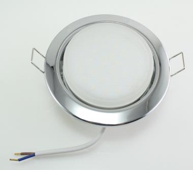 Metall Einbaustrahler GX53 chrom mit 30 SMD 5W 230V