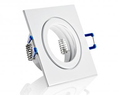 Feuchtraum ALU Einbaustrahler Weiß viereckig IP44