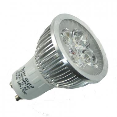 4x1W GU10 Power LED Strahler 230V Dimmbar kaltweiß