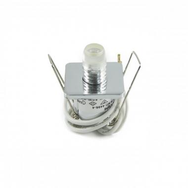 10er Sternenhimmel Set LED G4 + Einbauspot viereckig eisengebürstet inkl. Trafo