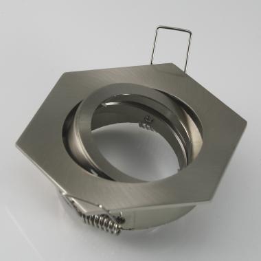 Einbaustrahler Eisengebürstet 6-eckig mit Bajonettverschluss