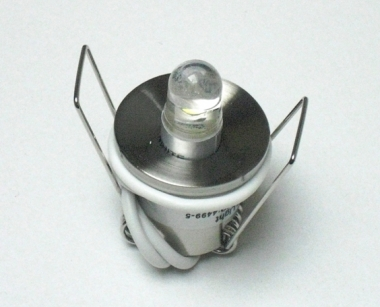 20er Sternenhimmel Set LED G4  + Einbauspot eisengebürstet Rund inkl. Trafo