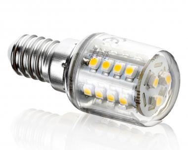 27SMD JDR E14 Kühlschrankbirne Notlicht kaltweiß 230V