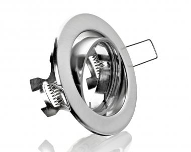 Metall Einbaustrahler Eisengebürstet Rund ideal für LED