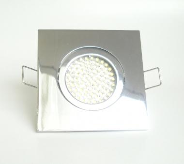 Einbaustrahler Set 60 LED GU10 + Einbaurahmen 4-eckig chrom schwenkbar