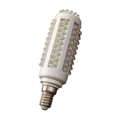 High Lumen 128 LED E14 Kerze Kaltweiß 580 Lumen