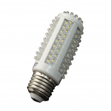 High Lumen 128 LED E27 Kerze Warmweiß 550 Lumen