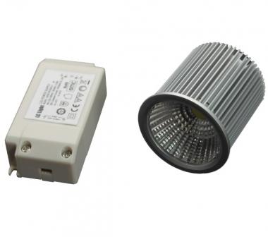7W Power LED COB Strahler 18-22V mit Netzteil warmweiß