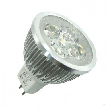 4x1W Power LED MR16 Kaltweiß 12V AC/DC