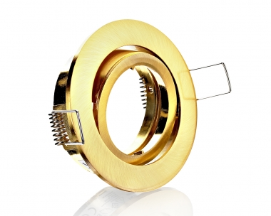 Metall Einbaustrahler mit Schnellspannkopf Messing Rund