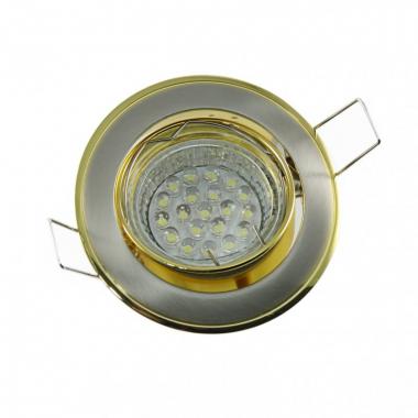 Einbaustrahler Set 20 LED GU10 + Einbaurahmen Messing eisengebürstet schwenkbar