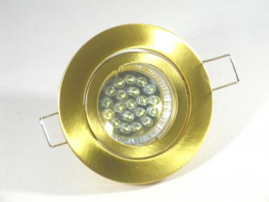 Einbaustrahler Set 20 LED GU10 + Einbaurahmen Messing/Gold schwenkbar