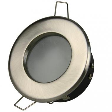 Heitronic Einbaustrahler GU10 MAX. 50W Nickel Matt Feuchtraum