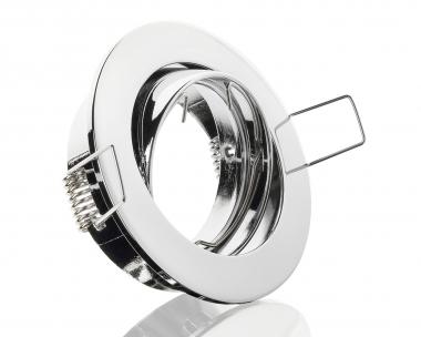 Druckguss Einbaustrahler Chrom Rund schwenkbar ideal für LED