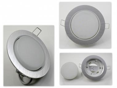 Metall Einbaustrahler GX53 Alu mit 6W LED 230V