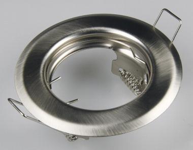 Metall Einbaustrahler chrom-matt starr Ø80mm