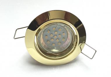 Metall Einbaustrahler Set 15 SMD GU10 Messing-Gold schwenkbar