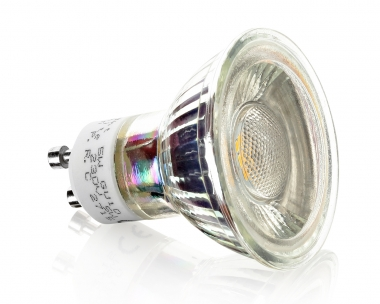 9 SMD GU10 Strahler 5W Tageslichtweiß 380 Lumen Schutzglas