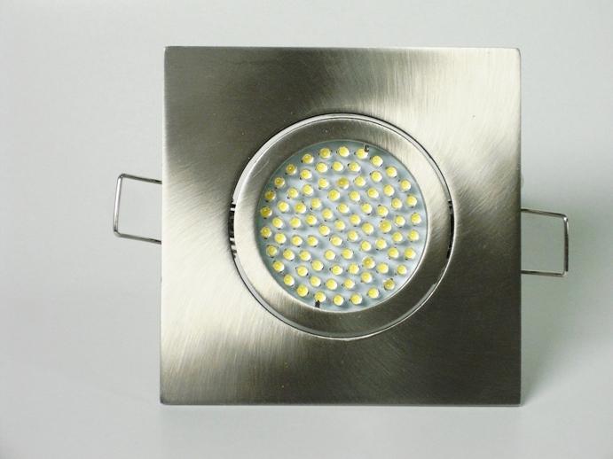 Einbaustrahler Set 60 LED GU10 + Einbaurahmen 4-eckig