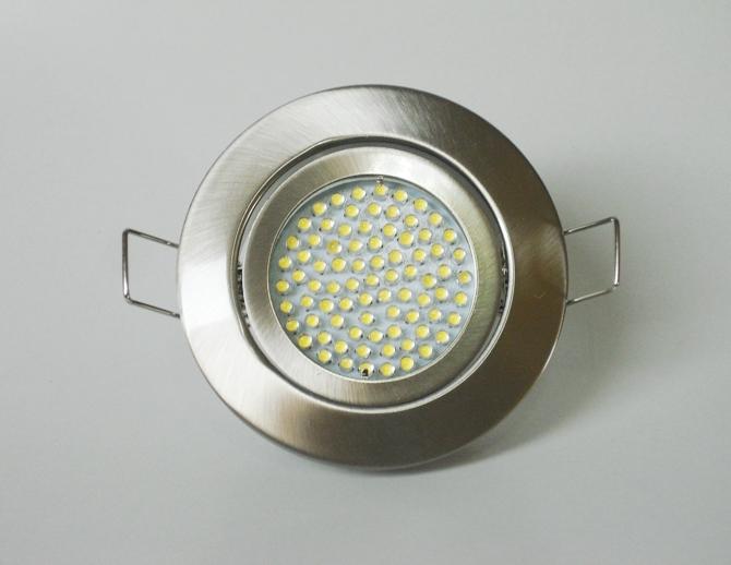 Einbaustrahler Set 60 LED GU10 + Rahmen eisengebürstet Rund