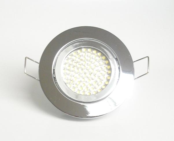 Einbaustrahler Set 60 LED GU10 + Rahmen chrom Rund