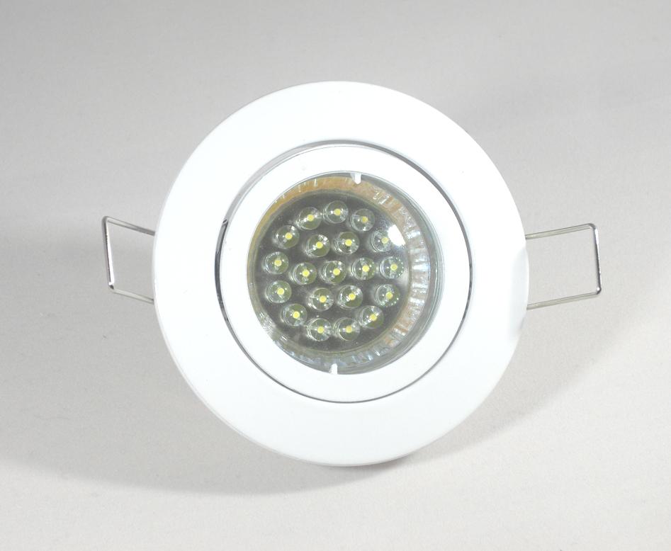 Einbaustrahler Set 20 LED GU10 + Einbaurahmen weiß Rund Bajo