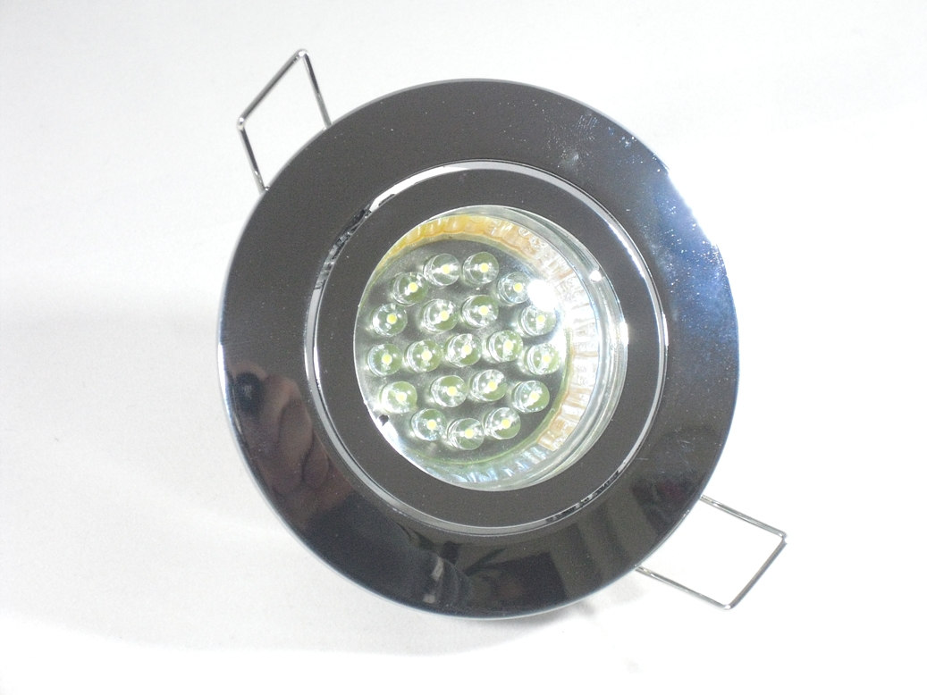 Einbaustrahler Set 20 LED GU10 + Einbaurahmen chrom Rund