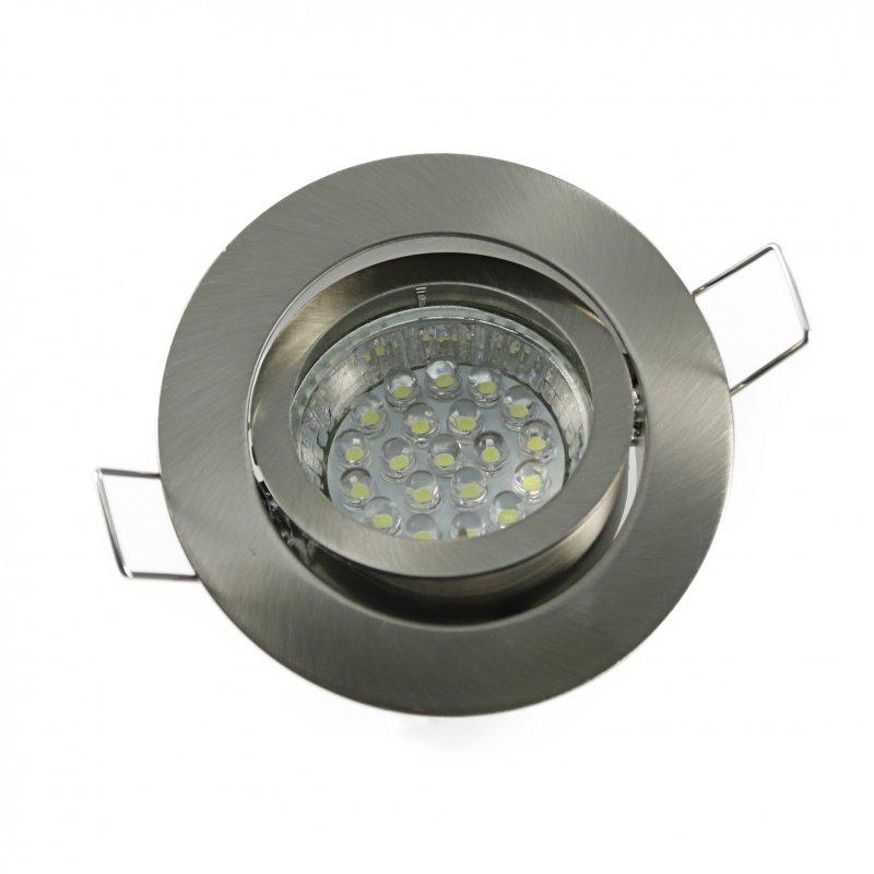 Einbaustrahler Set 20 LED GU10 + Einbaurahmen eisengeb. Rund