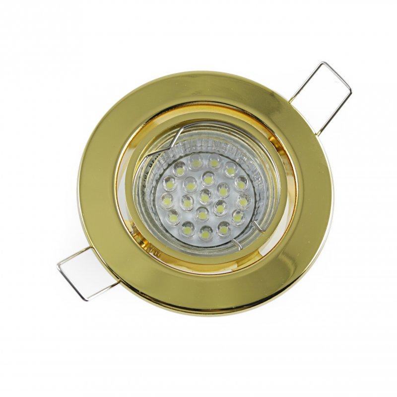 Einbaustrahler Set 20 LED GU10 + Einbaurahmen Messing Rund