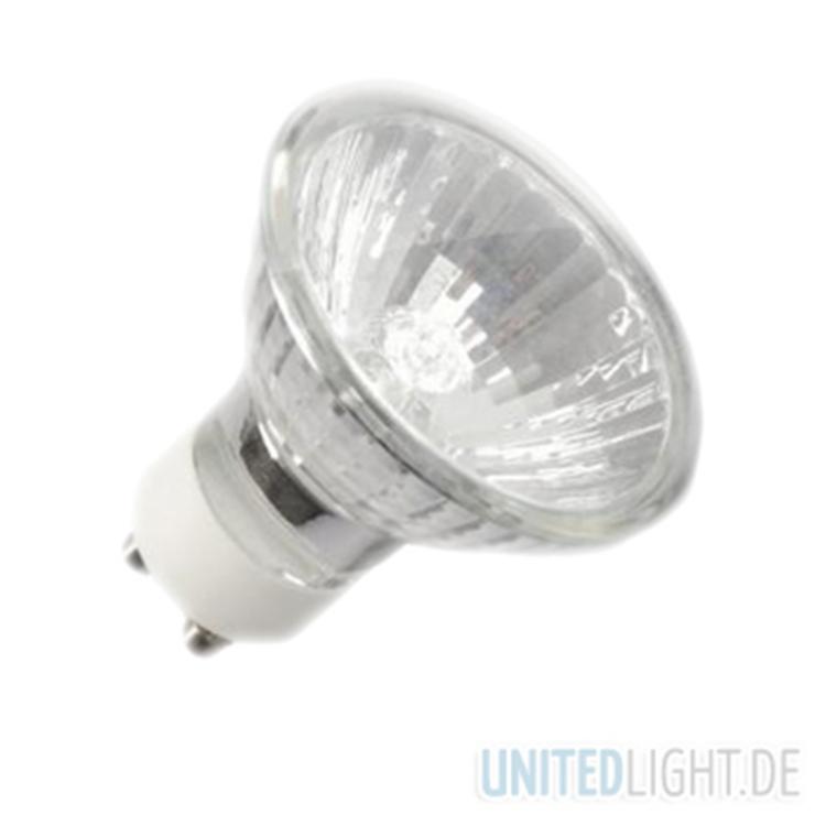 gu10 halogen strahler 230v 50w unitedlight led shop f r leuchtmittel und led einbaustrahler. Black Bedroom Furniture Sets. Home Design Ideas