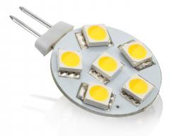 6 SMD G4 LED Strahler Warmweiß 12V