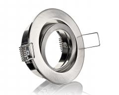 Einbaustrahler Rund Eisengebürstet mit Klickverschluss