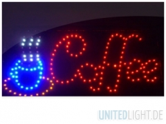 LED Schild Coffee Werbeschild
