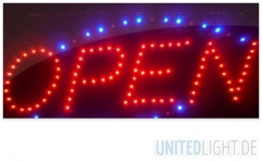 LED Schild OPEN Werbeschild