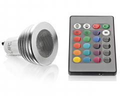 RGB GU10 Power LED Strahler 3W