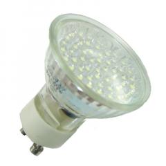 52 LED Strahler GU10 Warmweiß mit Schutzglas