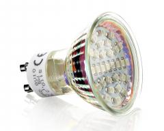 30 LED Strahler GU10 Blau 230V