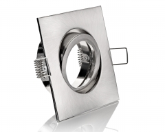 Einbaustrahler Eisengebürstet 4-eckig Klickverschluss