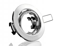 Metall Einbaustrahler Chrom Rund schwenkbar ideal für LED