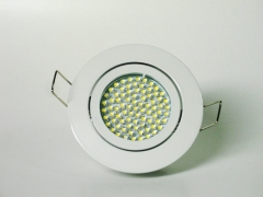 Einbaustrahler Set 60 LED GU10 + Einbaurahmen weiß Rund schwenkbar