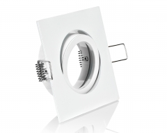 Einbaurahmen Einbaustrahler 4-eckig weiß mit Klickverschluss