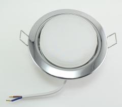 Metall Einbaustrahler GX53 chrom mit 6W LED 230V